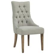 !nspire – Chaise d'appoint capitonnée, gris avec pattes grises (403-369GY)