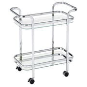 WHI 2 Tier Glass/Chrome Trolley (556-218CH)