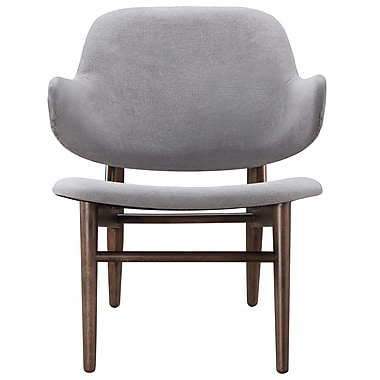 !nspire Mid Century Fabric Accent Chair, Light Grey (403-322LG)
