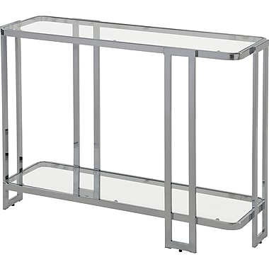 !nspire Glass/Metal Console Table, Chrome (502-229CH)