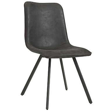!nspire Faux Suede Side Chair, Vintage Grey, 2/Pack (202-475GY)