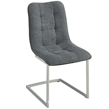 !nspire ? Chaise d?appoint moderne, gris, 2/paquet (202-313GY)