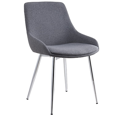 !nspire Modern Fabric Side Chair, Grey, 2/Pack (202-330GY)