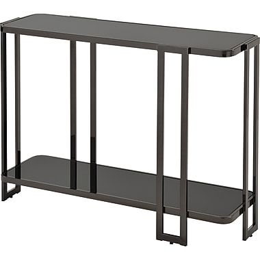 !Nspire ? Table console en verre/métal, nickel noir (502-229BK)