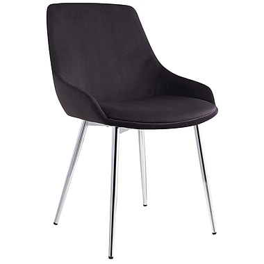 !nspire Modern Velvet Side Chair, Black, 2/Pack (202-330BK)