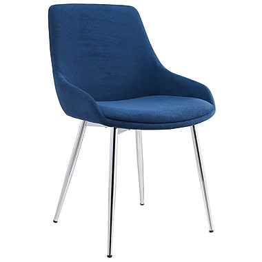 !nspire Modern Fabric Side Chair, Blue, 2/Pack (202-330BLU)