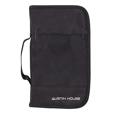 Austin House Leather Passport Cover, Black (AH64ZO01 009)