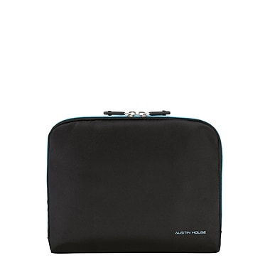 Austin House Set Of 3 Toiletry Case,Black With Turquoise Lining (AH50CB01 009)