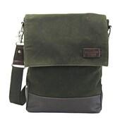 Licence 71195 College WaxC Shoulder Bag, Khaki (LBF10867-KK)
