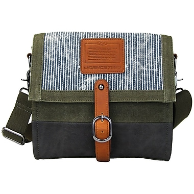 Licence 71195 Jumper Canvas M Shoulder Bag, Khaki (LBF10871-KK)