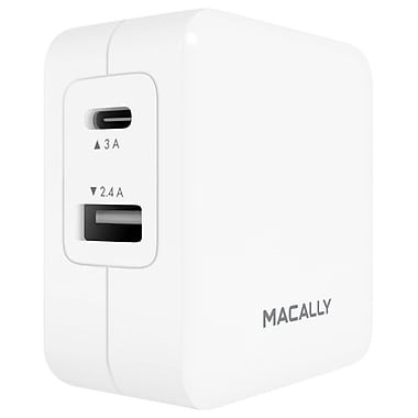 Macally 2 Port USB-C and USB-A Wall Charger (Home24UC)