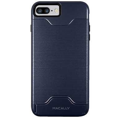Macally Protective Case for iPhone7 Plus, Blue (KSTANDP7LBL)