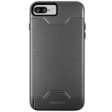 Macally Protective Case for iPhone7 Plus, Gray (KSTANDP7LGY)