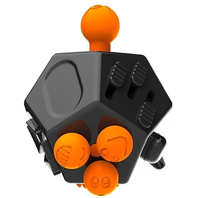 LAX Gadgets 12 Sided Fidget Widget Anti Stress Desk Toy, Black (1XFDGT12SDBLK)