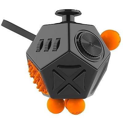 LAX Gadgets 12 Sided Fidget Widget Anti Stress Desk Toy, Black, 2-Pack (2XFDGT12SDBLK)