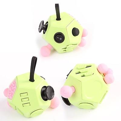 12 Sided Fidget Widget Anti Stress Desk Toy, Green, 2-Pack