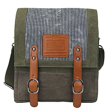 Licence 71195 – Sac de messager Jumper Canvas MV, kaki (LBF10760-KK)