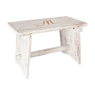 August Grove Cabrera Personalized Rustic Wood Garden Bench; M