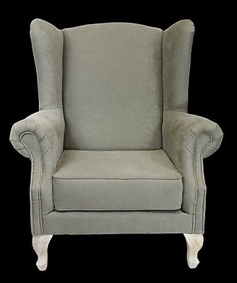 August Grove Caldervale Wingback Chair; Gray