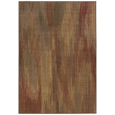 Winston Porter Roberts Muted Impressions Brown Area Rug