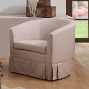 Charlton Home Clifford Barrel Chair; Beige