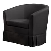 Charlton Home Clifford Barrel Chair; Charcoal