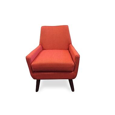 Corrigan Studio Jeremiah Mid Century Modern Lounge Chair; Orange
