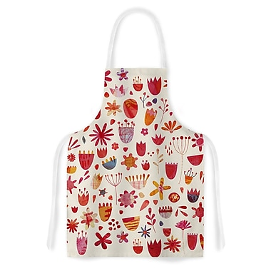 East Urban Home Nic Squirrel Spring Flowers Artistic Apron
