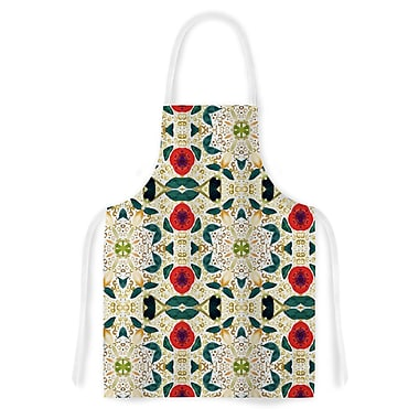 East Urban Home Laura Nicholson Persimmons and Peaches Abstract Artistic Apron