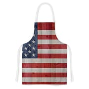 East Urban Home Bruce Stanfield USA Flag on Spruce Artistic Apron