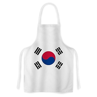East Urban Home Bruce Stanfield Flag of Korea Artistic Apron