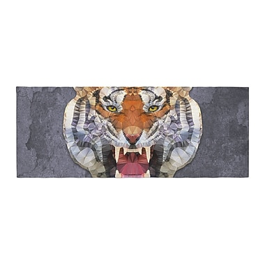 East Urban Home Ancello Abstract Tiger Bed Runner