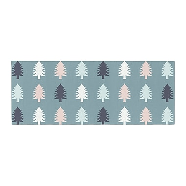 East Urban Home Afe Images Christmas Tree Silhouettes Digital Bed Runner