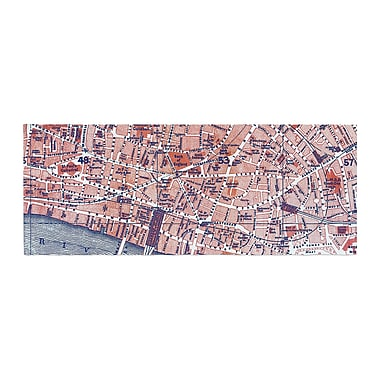 East Urban Home Alison Coxon City of London Map Bed Runner