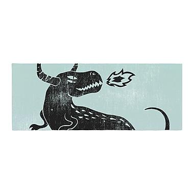 East Urban Home Anya Volk Fire Monster Illustration Bed Runner