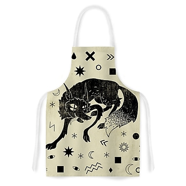 East Urban Home Anya Volk Wolf Illustration Artistic Apron