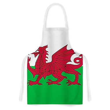 East Urban Home Bruce Stanfield Flag of Wales Authentic Fantasy Illustration Artistic Apron