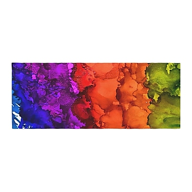 East Urban Home Claire Day Rainbow Splatter Bed Runner