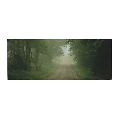 East Urban Home Angie Turner Foggy Road Forest Bed Runner