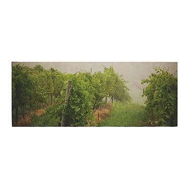 East Urban Home Angie Turner Grape Vines Foggy Bed Runner