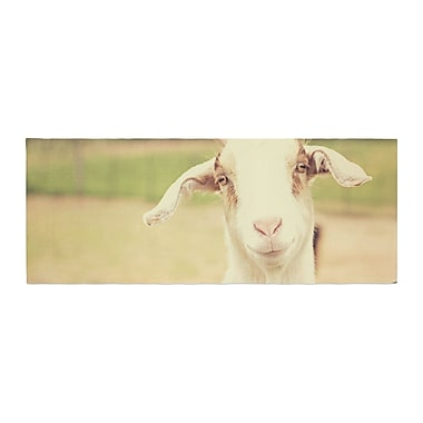 East Urban Home Angie Turner Happy Goat Smiling Animal Bed Runner