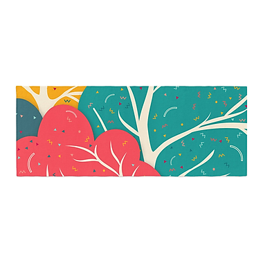 East Urban Home Danny Ivan Happy Forest Trees Bed Runner