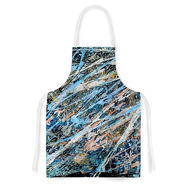 East Urban Home Bruce Stanfield Cobalt One Abstract Artistic Apron