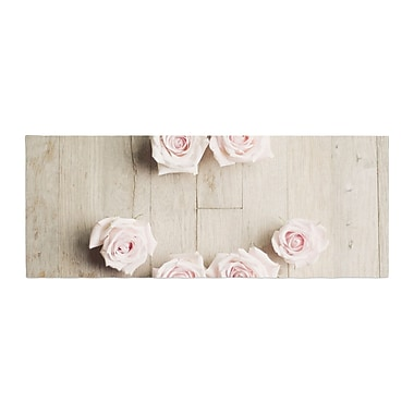 East Urban Home Cristina Mitchell Smile Wood Roses Bed Runner