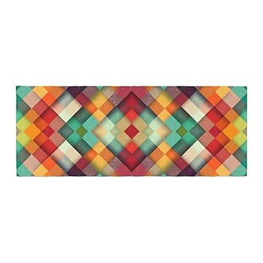 East Urban Home Danny Ivan Time Between Geometric Abstract Bed Runner