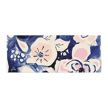 East Urban Home Crystal Walen Midnight Moon Flower Bed Runner
