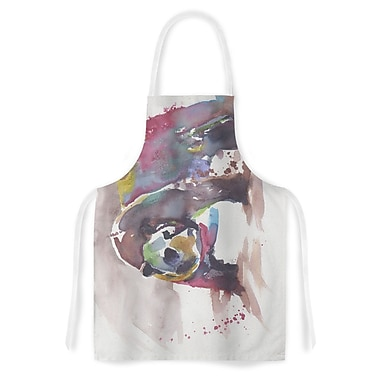 East Urban Home Rebecca Bender Grizzly Bear Watercolor Abstract Animal Artistic Apron