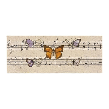 East Urban Home Suzanne Carter Butterfly Opera Music Bed Runner