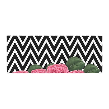 East Urban Home Suzanne Carter Camellia Chevron Flower Bed Runner