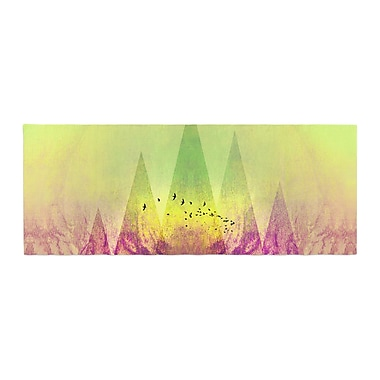 East Urban Home Pia Schneider Trees Under Magic Mountain Nature Bed Runner